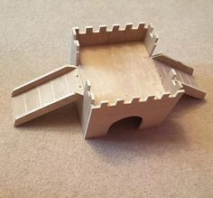 Guinea Pig/Small Animal Hideout Shelter Home House Castle Diy Guinea Pig Cage, Guinea Pig House, Guinea Pigs, Rabbit And Tortoise, Baby Tortoise, Rat House, Guinea Pig Accessories, Hamster Habitat, Cat Wall Furniture