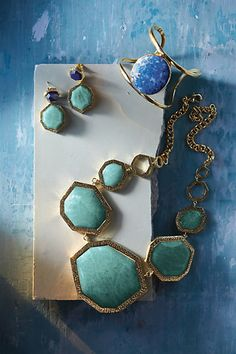 Blue and Gold Spring Jewelry