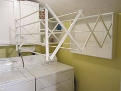 40 Small Laundry Room Ideas and Designs 2018 Laundry room decor Small laundry room organization Laundry closet ideas Laundry room storage Stackable washer dryer laundry room Small laundry room makeover A Budget Sink Load Clothes Laundry Room Drying Rack, Drying Room, Drying Rack Laundry, Clothes Drying Racks, Laundry Closet, Laundry Room Organization, Small Laundry, Laundry Room Design, Hanging Clothes