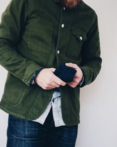 This jacket is by the Dutch brand Kings of Indigo (also known as K.O.I.). They are putting out such great garments. This is a army green bazer jacket made of 14oz Italian dyed twill.