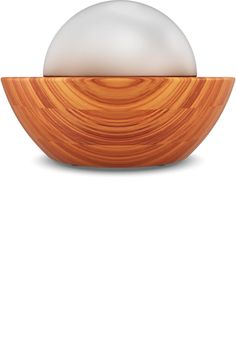 Air Therapy Globe | Améo hand-finished bamboo ultrasonic diffuser. The Globe's ultrasonic technology breaks the mixture of water and oils into millions of particles and then disperses them to provide various therapeutic benefits, delightful fragrances and improved air quality. Its sleek design also incorporates natural elements and soft lighting to bring peace and balance to any setting.