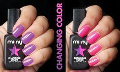 PURPLE - PINK  http://www.minyshop.com/en/changing-color/797-purple-pink.html  #miny #nailpolish #smalto #nails #glamour #fashion #madeinitaly #noanimaltesting #minycosmetics #nailpolish #glamlacquer