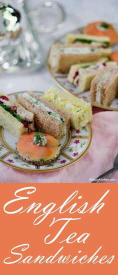 The Best 4 Traditional English Tea Sandwiches Easy Sandwich Recipes, Tea, Afternoon Tea Party Recipes, Comfort Food English Tea Sandwiches, Tee Sandwiches, High Tea Sandwiches, Cucumber Sandwiches, Bridal Shower Sandwiches, Easy Finger Sandwiches, Sandwiches For Afternoon Tea, Dinner Sandwiches, Easy Sandwich Recipes