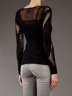Mcq By Alexander Mcqueen Crochet Top in Black | Lyst