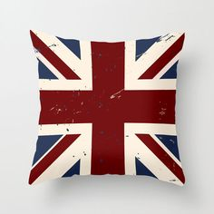 Anglophilia Pillow Cover | dotandbo.com  You'll be transported to Merry Old England with this bold Union Flag pillow cover in comfortable polyester poplin. Whether you're a true Anglophile or simply in love with its graphic punch, you'll be pleased by its effect on the room!