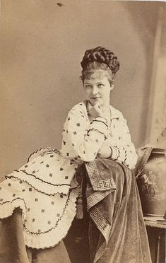 Angelically pretty British Victorian stage actress Rose Massey. #Victorian #19th_century #1800s #photograph #antique #vintage #woman #actress #stage #UK #British #Rose_Massey