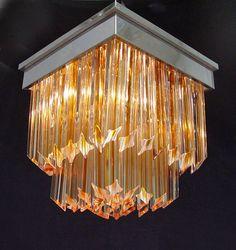 VINTAGE Amber MURANO Venini Glass Flush by SharonsChandeliers