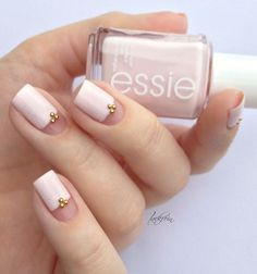 Rose Quartz Nail Design