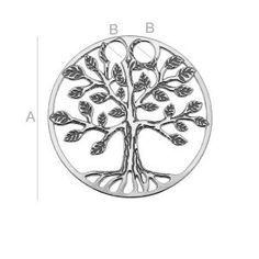 Sterling Silver Tree of Life Charm made from Ag 925 Available on: http://en.silvexcraft.eu/26223-lk-0450-tree-of-life-18765.html Size: A=17,00 mm; B=2,20 mm, sterling silver (AG-925)
