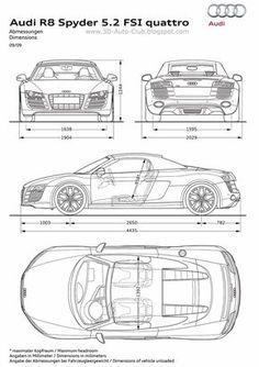 Audi r10 blueprint blueprint pinterest cars car r18 blueprint malvernweather Images
