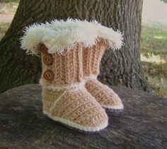 CROCHET PATTERN Baby Booties Baby Snuggs Pattern Instant