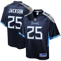 0642d8c8d001 Adoree  Jackson Tennessee Titans NFL Pro Line Team Player Jersey – Navy
