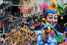 New Orleans Mardi Gras, 12 February Also known as Shrove Tuesday, in French Mardi Gras means 'Fat Tuesday'. While we go crazy before Lent by making pancakes, the people of New Orleans get drunk and dress up (or strip off) in a celebration of their Creole heritage.