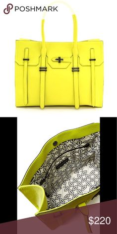 Rebecca Minkoff Jules Tote Rebecca Minkoff Yellow Leather Jules Tote Measurements: 15.75 x 5.5 x 12.25 Like new! No signs of wear Comes with original dustbag Rebecca Minkoff Bags Totes