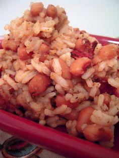 Charleston Hopping John - black eyed peas, bacon and rice