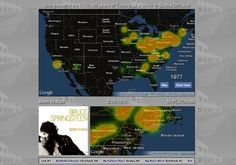 Springsteen in the USA: 40 Years of Touring as a Study in Spatial Diffusion
