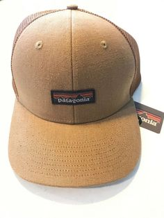 Patagonia Tin Shed Trucker Hat Workwear Canvas Coriander Brown Tan NWT!   fashion   8027055809a