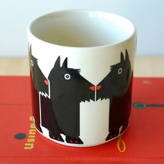 Taylor & Ng Minimals Mug Scottish Terrier... Would love to have this to remind me of my Lilly!