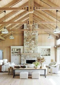 wood beams vaulted c