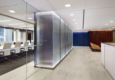 View the Partitions, Walls project for Morris, Manning & Martin, LLP by Nathan Allan Glass Studios Inc., revolutionary glass for visionary projects.