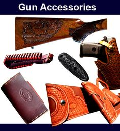 Gun Accessories, replacement stocks, holsters, cases, hand carving. Visit www.cottagecraftworks.com where you can still purchase reproductions of the old fashioned back to basics products.