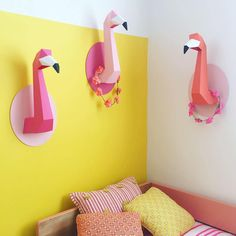"""260 Likes, 10 Comments - Petit Pehr & Pehr Home (@pehrdesigns) on Instagram: """"Why have one flamingo when you can have three? Love this fun girls room from @chloefleury that…"""""""
