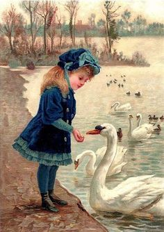 ART~ Filling Each Beak, A Peck Or A Treat? ~ Victorian Painting~ Oil On Canvas
