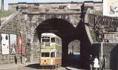 No.18 tram at Maryhill Aqueduct, Glasgow.