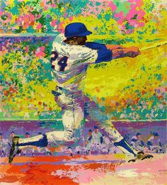 Leroy Neiman painting of Willie Mays