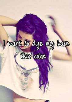 I want to dye my hair purple! This color is perfect!!