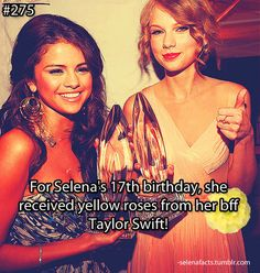 - Clever Yellow roses stand for Friendship. Selena Gomez Facts, Selena Gomez Music, Selena Gomez With Fans, Selena And Taylor, Taylor Swift Quotes, Marie Gomez, She Song, Female Singers, Celebs