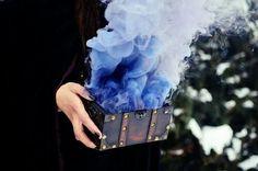 Cool! Mystic blue smoke