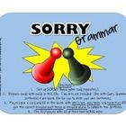 Sorry Grammar Target am/is/are, was/were, has/have, irregular verb forms and irregular plurals while playing SORRY! Simply set up your SORRY game (sold in store. Grammar Games, Grammar And Punctuation, Grammar Activities, Speech Therapy Activities, Language Activities, Receptive Language, Speech Language Pathology, Speech And Language, Language Arts