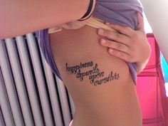 """happiness depends upon ourselves""- aristotle. love the placement"