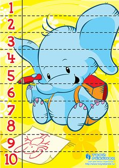 Counting Puzzles, Maths Puzzles, Numbers Preschool, Preschool Math, Math Games, Fun Games, Kindergarten Fun, Kindergarten Worksheets, Puzzle Crafts