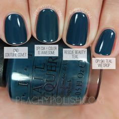 OPI CIA = Color Is Awesome| Washington D.C. Collection Comparisons | Peachy Polish