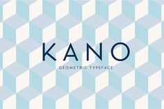 """Kano"" is an uppercase and lowercase display typeface, with a geometric structure and a sharp edge point, making it ideal for logos, posters, and other typographic works. Kano is free for personal & commercial use. Graphic Design Projects, Graphic Design Inspiration, Geometric Font, Geometric Graphic, Graphic Art, Professional Fonts, Free Typeface, Best Free Fonts, Brand Fonts"