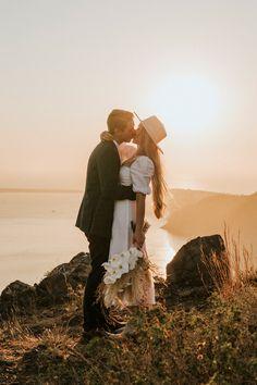 This Santorini Elopement at Vallais Villa is a Mediterranean Boho Dream Santorini Wedding Venue, Wedding Venues, Santorini Sunset, High School Sweethearts, Most Romantic, Beautiful Couple, Bride Groom, Wedding Blog, Love Story