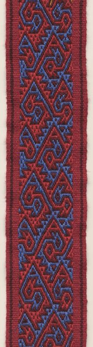 Mooi! helaas zonder patroon... Band in three colour pebble weave. Marijke van Epen
