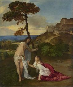 Christ and Mary Magdalene (Noli me tangere) - Titian