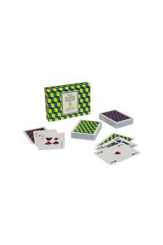 Perfect to for holiday homes, motor homes, boutique hotels and yachts alike! Two full sets of playing cards packaged in a stylish hinged box with rules sheet for 4 games. Whether your game of choice is patience, poker or snap, an evening's entertainment is guaranteed!   Playing Cards Set by Wild & Wolf. Home & Gifts - Gifts - Odds & Ends Montana