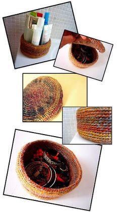 Aprende a tejer una cesta o canasta en ganchillo o crochet