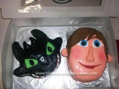 Homemade How To Train Your Dragon Cake: This How To Train Your Dragon Cake was a challenge! When I was asked to make a cake with this theme, the movie was so new that I didn't really have much