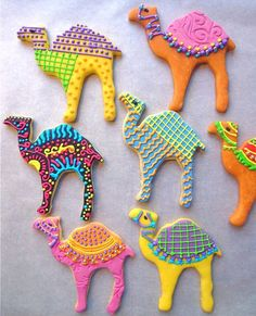 Baker alert! You're invited to enter SpiceLines First Annual Cookie Contest. It's a camel beauty competition, with cookies created and decorated by you. Cool prizes, too. These cookies? They were made by Heather Moseley of Gugelhupf Bakery in Durham, N.C.