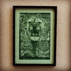 Poster A2 (42 x 60cm) de cliente, com moldura 2x2 preta. #cidomolduras #quadro #moldura #framed #frame #arte #deco #poster #print