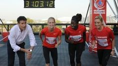 Old news article which references the Olympic STadium, Orbit Tower and Locog chair Seb Coe with athletes Hannah England and Christine Ohuruogu and actress Tamzin Outhwaite