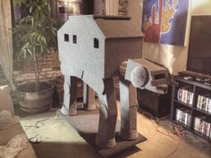 Got to love this At-At Shaped Cat Condo if you want to build one here are the directions: http://blastr.com/2012/04/this-star-wars-cat-at-cat.php#2