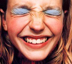 90s powder blue eyeshadow by Petra Collins.