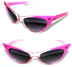 ecdc5f2a10 Women s 50 s Cat Eye small Pink Clear small Frame Retro Sunglasses Black  Lenses  Spexx  CatEye