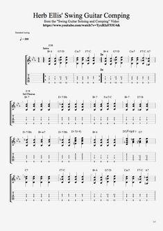Herb Ellis Jazz Blues Swing Guitar Comping 1